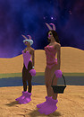 Andy and Zee on the beach in Easter outfits (8)