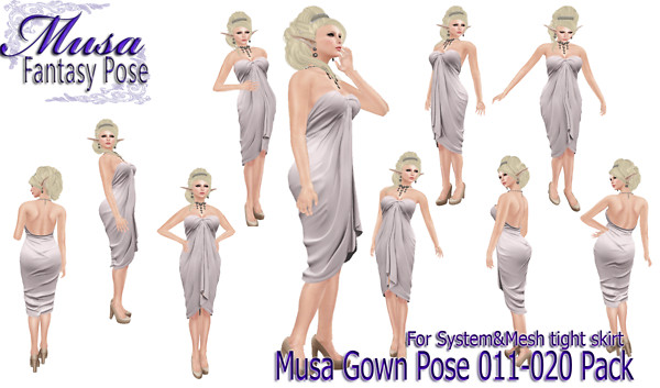 !Musa! Gown Pose011-020 pack