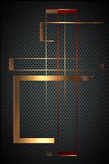 futura tableau Karbon gold red