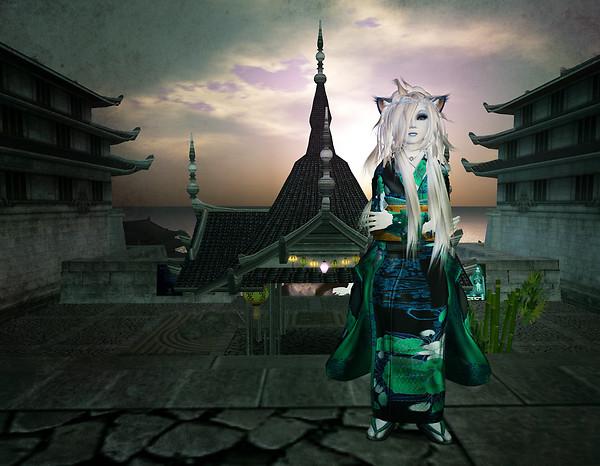 kimono-vert