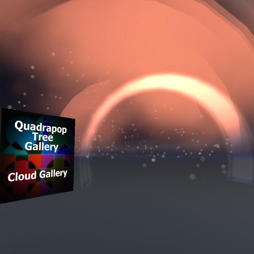 QT Cloud gallery Entrance with bubbles
