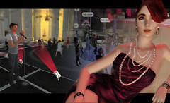 Party and Glam in 3D Online Virtual World Twinity