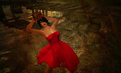 Red Love Hat & Cagebird Veil by Miuccia Klaar