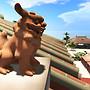 Okinawa lion dog statue