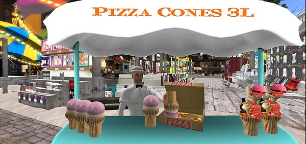 Pizza Cones in The Full Permissions Fair at Old Europe