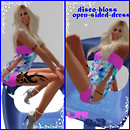 Mesh disco-bloss-open-sided-dress