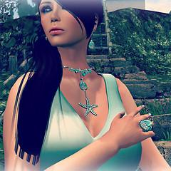 Donna Flora STARFISH emerald set by LaMorgh