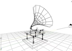 My first Mesh! A Gramophone!