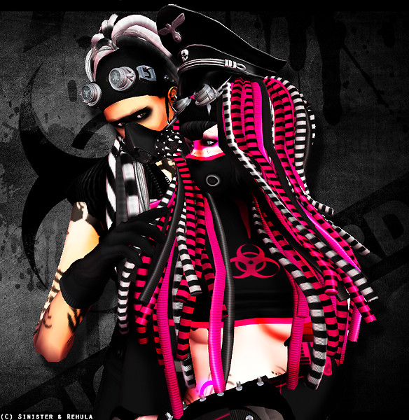 Sinister & Rehula : Cybergoth Couple