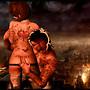 Viv and Prods Burning City
