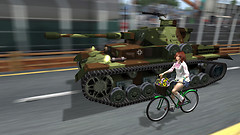 Bicycle and tank
