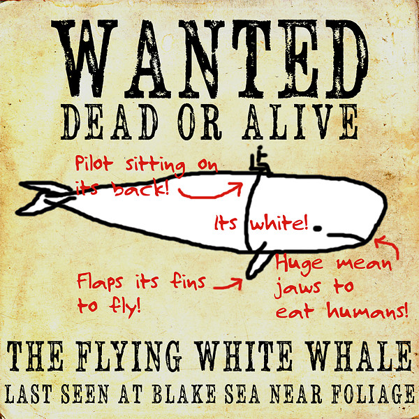Wanted - the whilte whale
