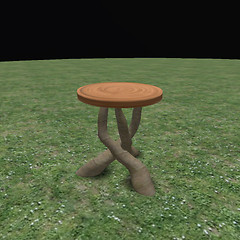 QT fae 3 leg table blackwood