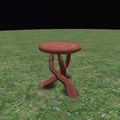 QT fae 3 leg table jarrah