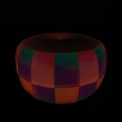 QT double checker ottoman - dk red vendor image