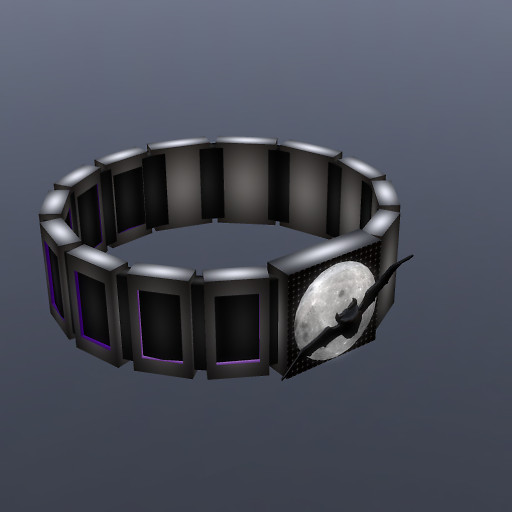 QT male steel & Rubber Bat&Moon wristband vendor image