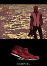 WingTip high cut shoes (Male)_red