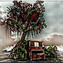 Piano under the tree