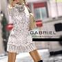 GABRIEL women's knit sweater dress / White