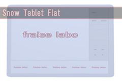 {*:f labo:*}Snow Tablet Flat