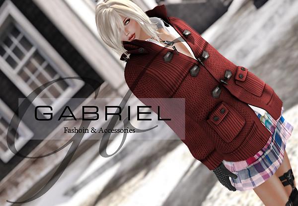 GABRIEL Free Gift / [Key necklace]&[Studded Globe]