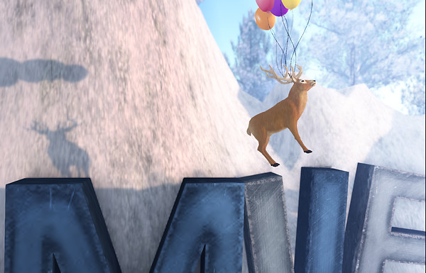 deer with balloons at onyx isle sim