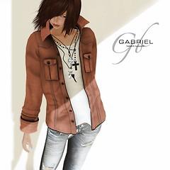 GABRIEL Corduroy shirt / Orange XXS