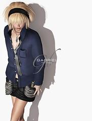 GABRIEL Loose shirt & Tie ※NEW