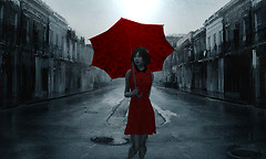 Rainy Day with Red
