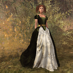 A gown of green