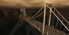 suspension bridge in Tokyo