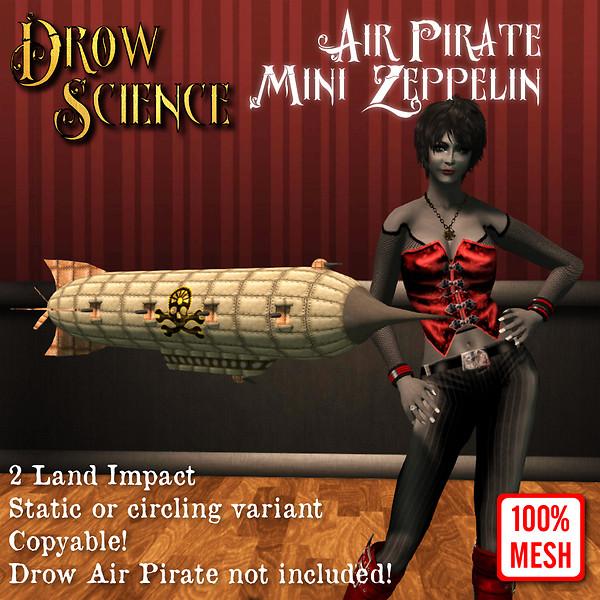 Steampunk Air Pirate Mini Zeppelin