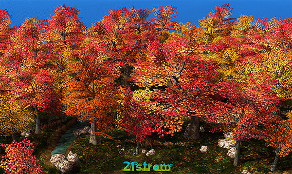 Autumn and Halloween mesh landscapes