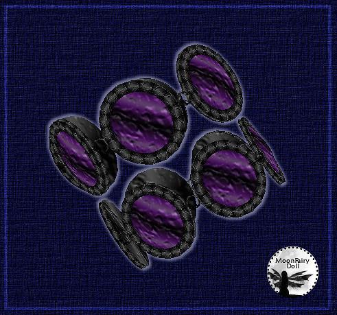 Double Bracelet - Dark Amethyst