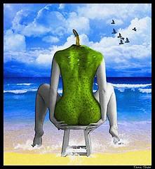 Surrealism: Woman and sea