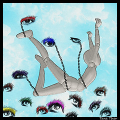 Surrealism:  Body and eyes
