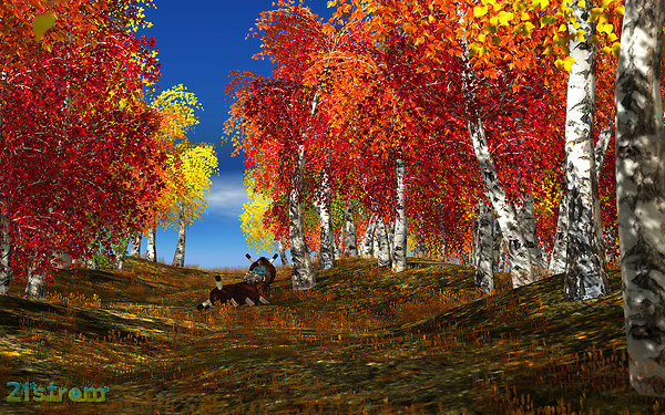 White Birch animated landscapes
