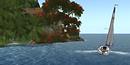 skirting an island in the blake sea