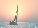 sailing dec 1 into the sunset