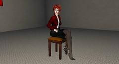 Eva sit in