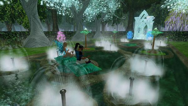 Ez and Devi in Meditation Garden on 1-15-15 (3)