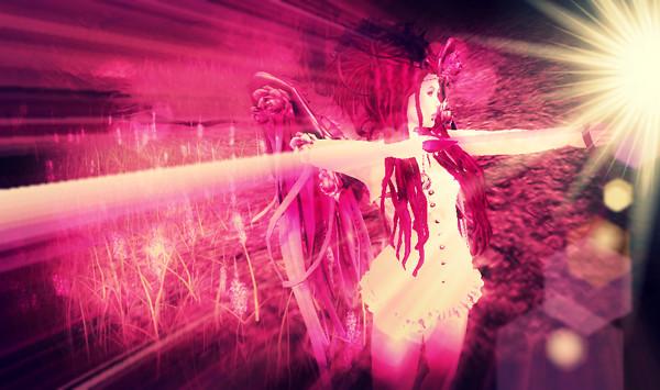cupids arrow  pink glow