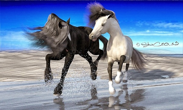 HiveWire Horses in Iray Test.....