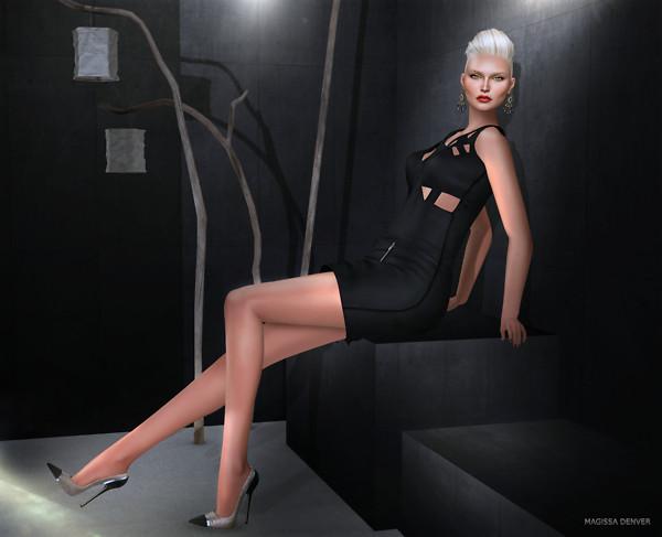 . K E L I N I . Sensuality Leather Dress