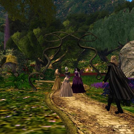 Walking through the fae garden Arwynd