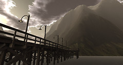 Dock and the Mountains