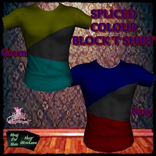 Splice Colour Block T-shirts