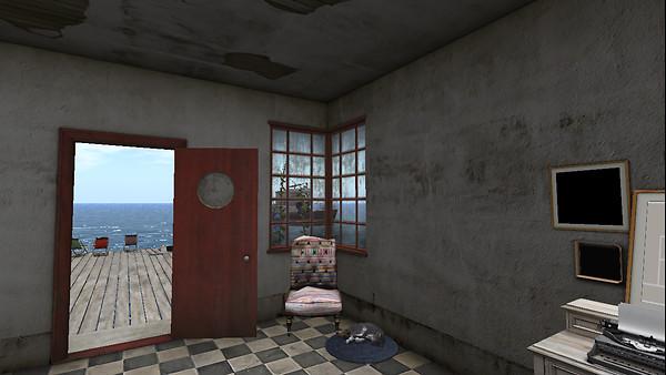 Inside the shack