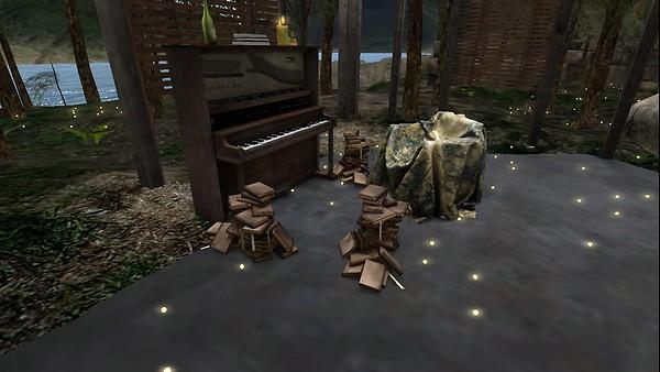 Books and piano