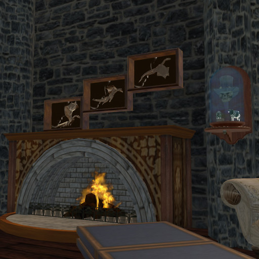 In Themez Gothic July - Farrator fireplace
